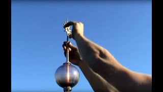 Installing a Copper and Brass Lightning Rod on a Slate Roof
