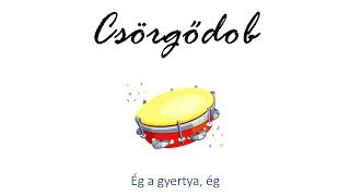 Hangszer ovi - Ég a gyertya, ég (csörgődob) / Hungarian children song (cat, cow, dog, animal)