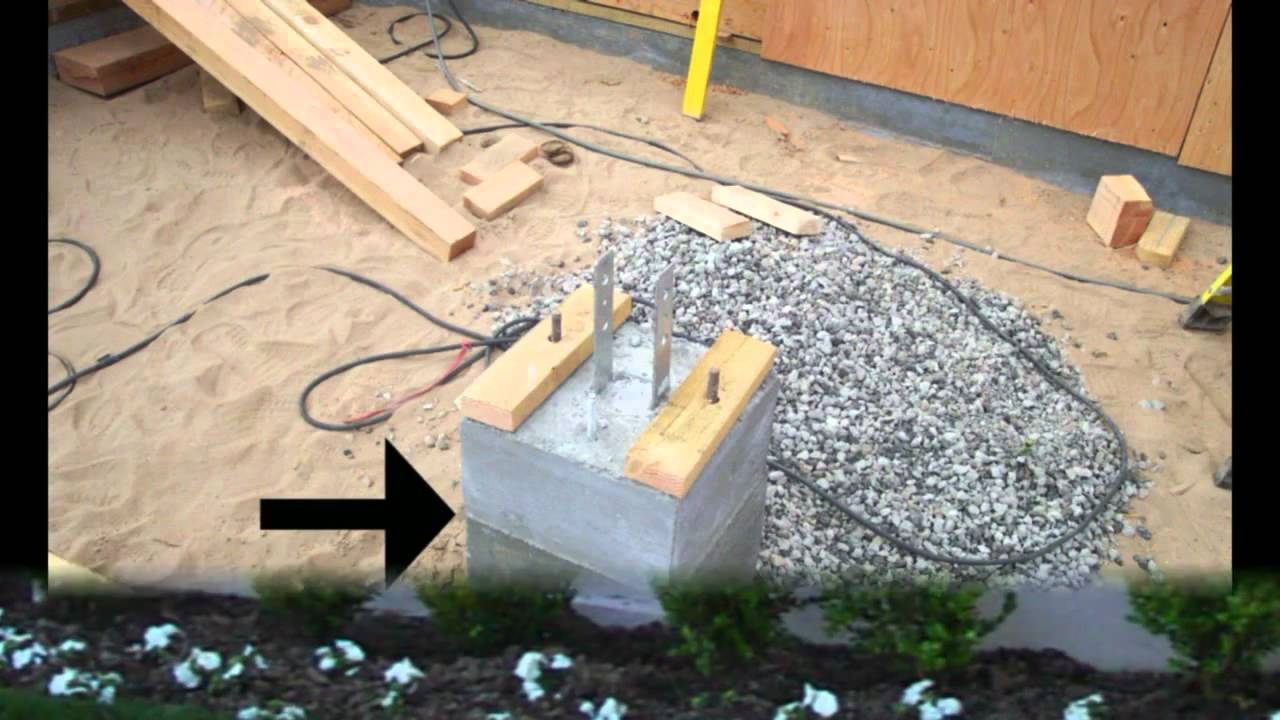 Porch Footings That Need To Be In Place Home Building