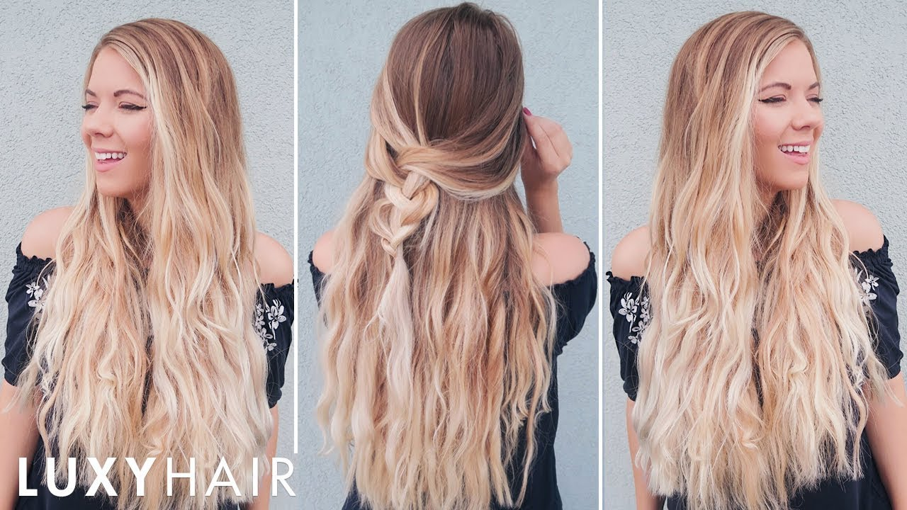 Ultimate Easy Heatless Waves Luxy Hair Youtube