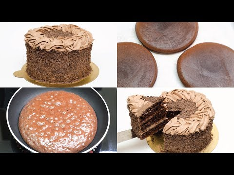 EGGLESS CHOCOLATE CAKE I CAKE ON FRY PAN I WITHOUT OVEN