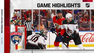 Coyotes @ Panthers 10/25/21 | NHL Highlights