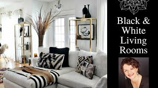 Home Decorating Ideas   Black And White Living Room
