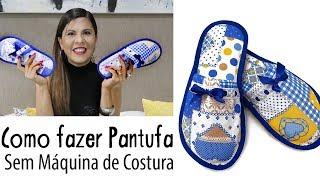 Aprenda a Fazer Pantufa sem Usar Maquina de Costura