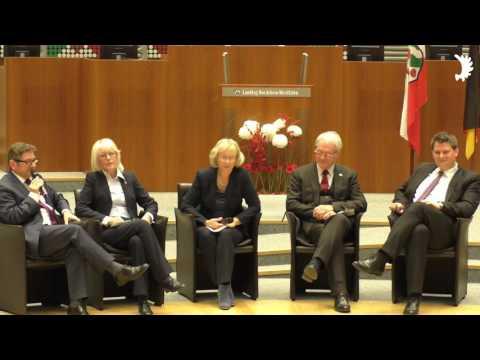 """Gesprächsrunde:  """"25 Jahre gute Nachbarschaft"""" – Feierstunde im Landtag NRW"""