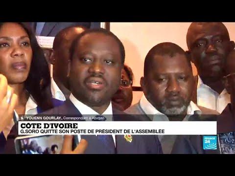 DÉMISSION de GUILLAUME SORO de la présidence de l'Assemblée nationale ivoirienne