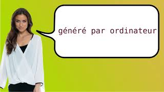 How to say 'computer-generated' in French?