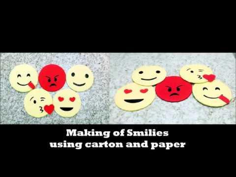 Diy Emoji Crafts easy Simleys art