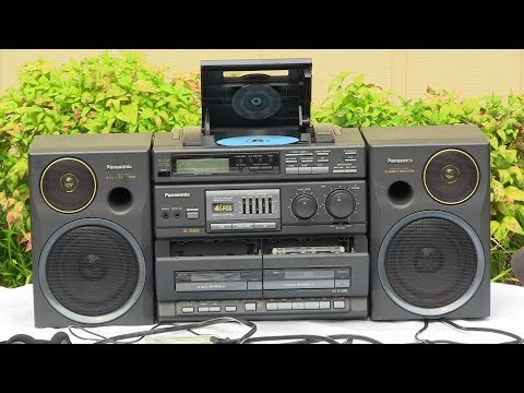 Panasonic RX-DT680 CD Digital Radio Dual Auto Reverse Cassette Decks Record Play Demonstrated