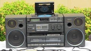 Panasonic RX-DT680 CD Digital Radio Dual Auto Reverse cassette decks Record play demonstrated