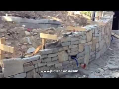 PIETREESASSI muro in pietra di Luserna  YouTube