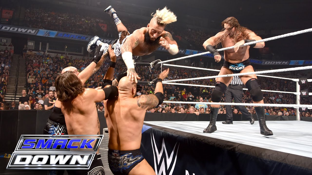 enzo u big cass vs aj styles u karl anderson smackdown july