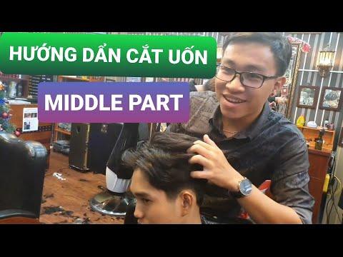 Hướng dẫn cắt và uốn kiểu tóc middle part (2 mái huyền thoại) trên chất tóc xấu và bung hai xoáy
