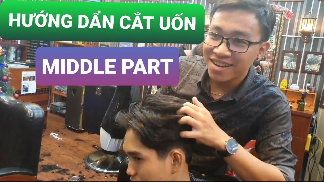 Hướng dẫn cắt và uốn kiểu tóc middle part (2 mái huyền thoại) trên chất tóc xấu và bung hai xoáy   Tóm tắt các thông tin nói về tóc 2 mái undercut chi tiết nhất