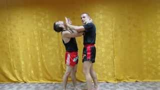 Тайский бокс видео - Жесткий удар с разрыва клинча(В этом видео по тайскому боксу я вам покажу очень эффективный и жесткий удар с разрыва клинча. Книга