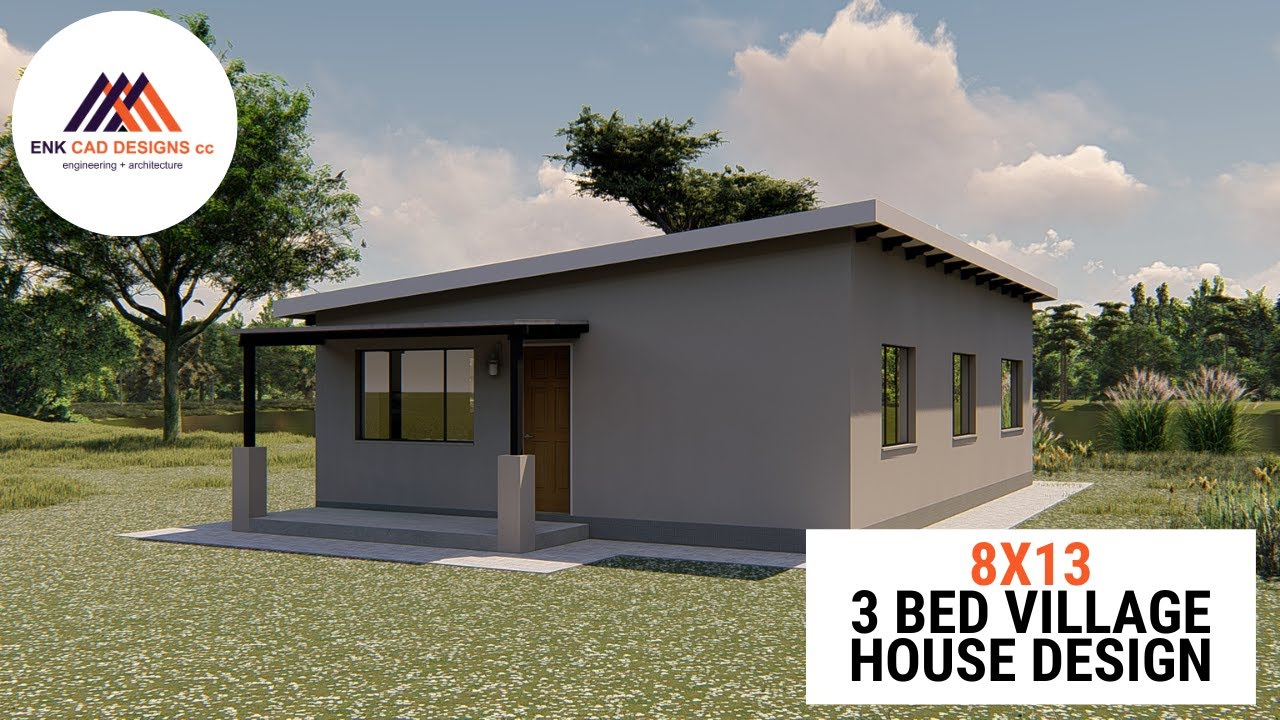 House Plan Design Video Tour 3 Bedroom Village Home To Be Built In Zimbabwe Youtube