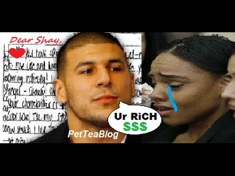 "Aaron Hernandez Last Letter to Wife Released ""You're RICH !"" 🤑💌📝 #ShayannaJenkins"