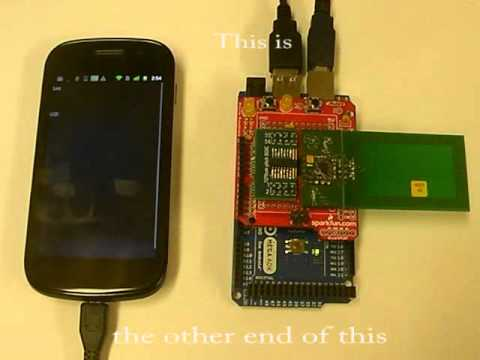 MT850 - Prototype NFC contactless card reader for Android