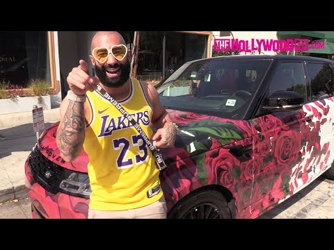 FouseyTube Reveals His New Rose Covered Range Rover & Gives Away Air Jordans With Simmi Singh