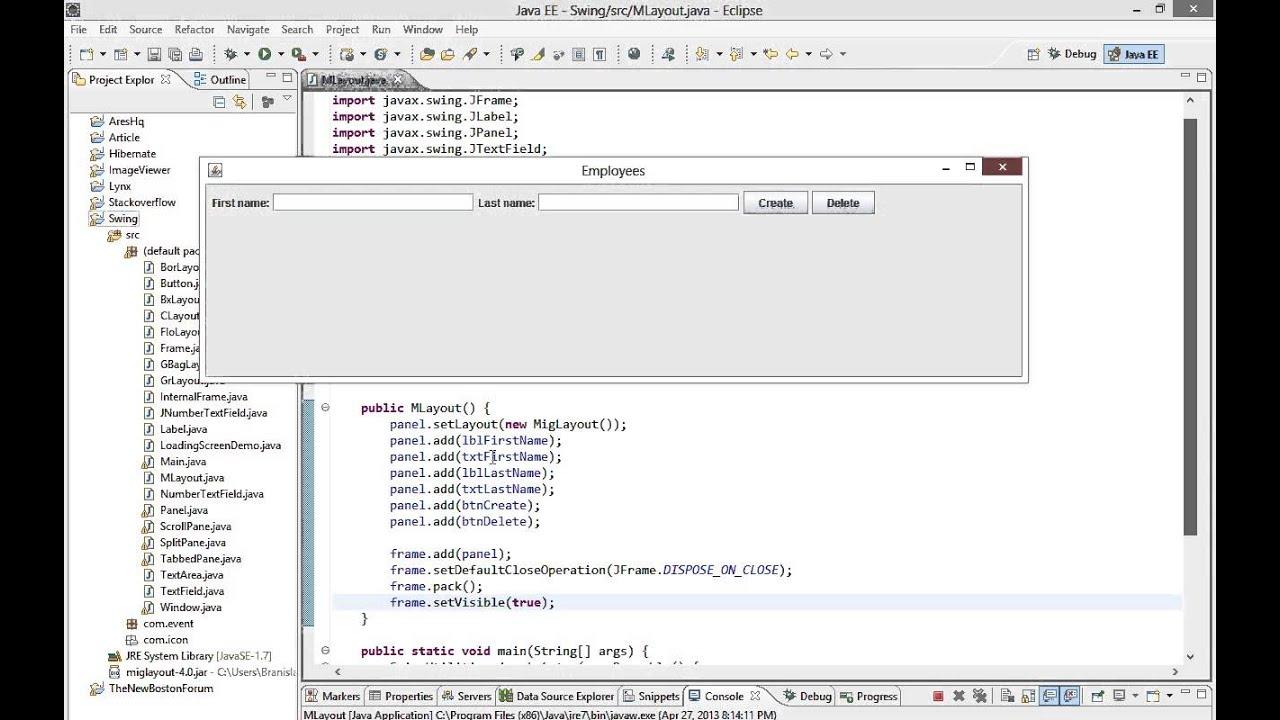 Java swing gui tutorial 21 miglayout youtube java swing gui tutorial 21 miglayout baditri Gallery