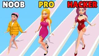 NOOB vs PRO vs HACKER in Catwalk Beauty screenshot 1