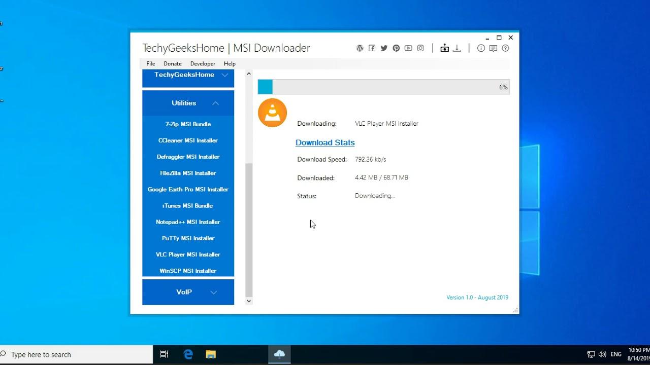 MSI Downloader Tool Released - TechyGeeksHome