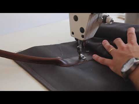 Making a Waxed Canvas and Leather Duffle Bag Timelapse