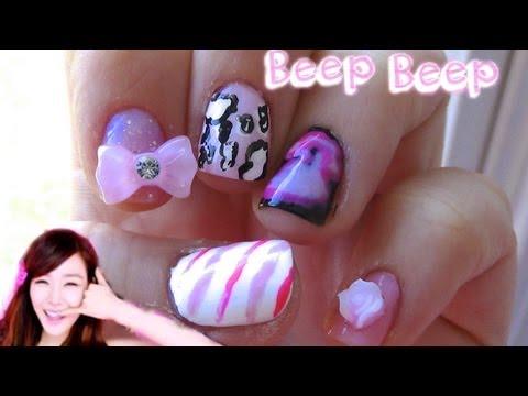 Beep Beep Girls' Generation (소녀시대) Nails