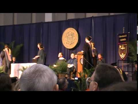 Notre Dame Mendoza College of Business Graduation, May 2010 part 1