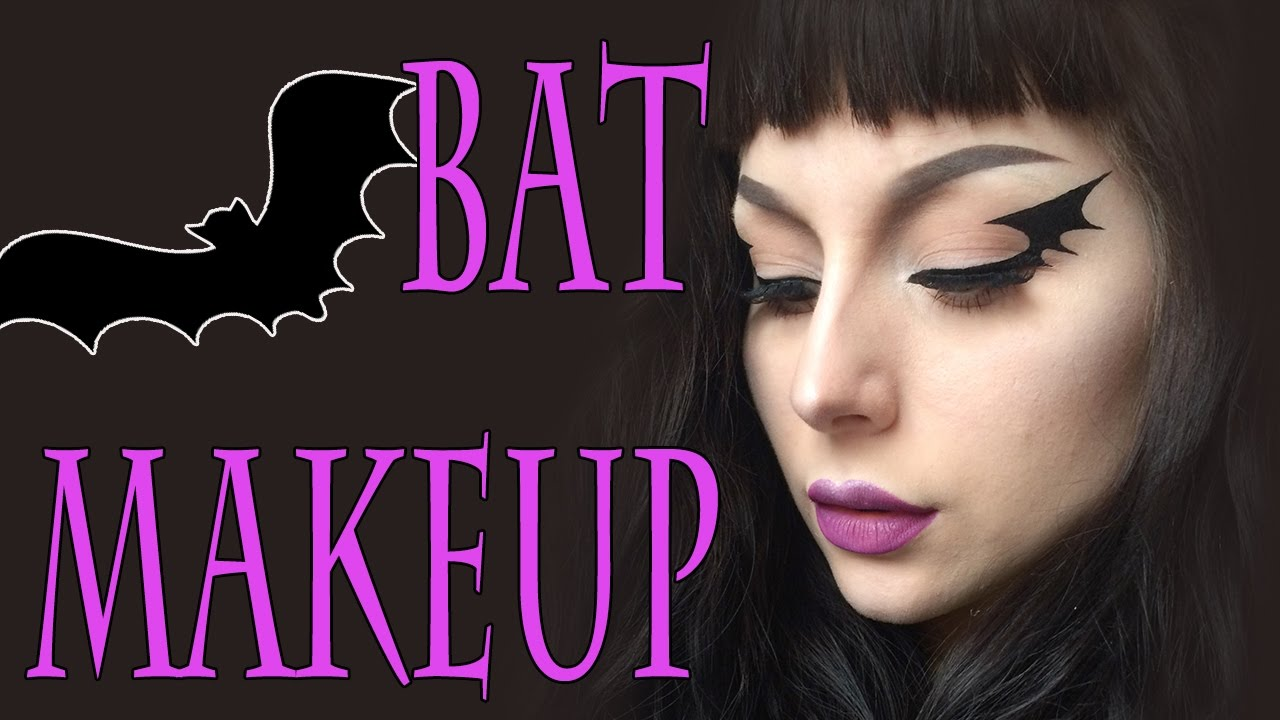 Bat Makeup Halloween Costume.Bat Halloween Makeup Tutorial Youtube