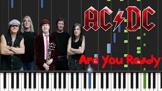 AC/DC - Are You Ready [Piano Cover Tutorial] (♫)