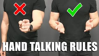 Body Language Tips to Look MORE Confident & Attractive! (HAND TALKING TRICKS)