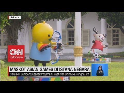 Maskot Asian Games Meriahkan Istana Negara