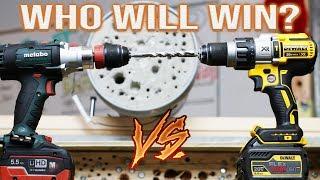 BEST HAMMER DRILL CONCRETE TEST - DeWALT VS METABO!