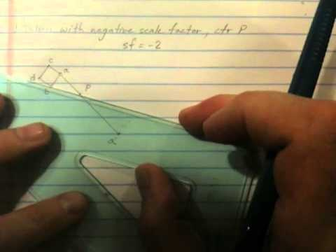 Dilation of a Figure w/ Negative Scale Factor