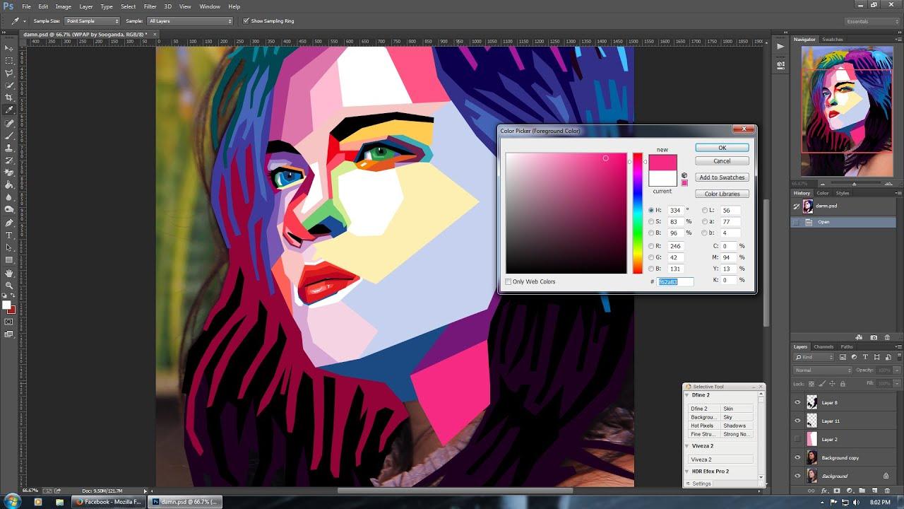 Tutorial Cara Mudah Membuat WPAP dengan Photoshop untuk