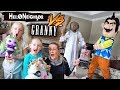 Hello Neighbor In Real Life Vs Granny In Real Life!!! Poopsie Unicorn Toy Scavenger Hunt!