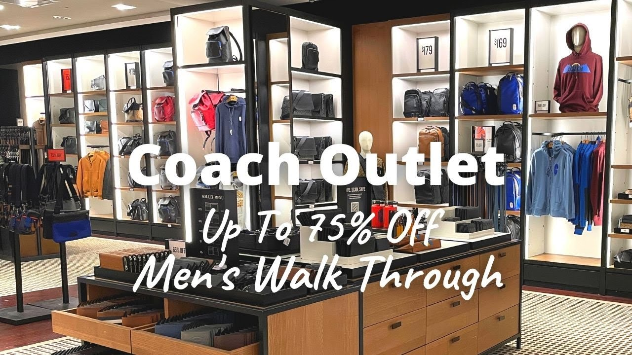 COACH OUTLET Shop With Me | Men's Walk Through | New Finds and Clearance Finds | Up to 75% Off