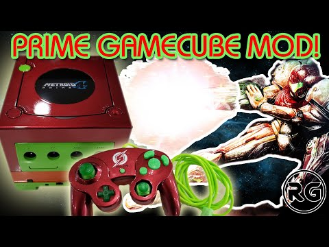 Gamecube Mod - Metroid Prime 4 themed Console and Controller, Must See!