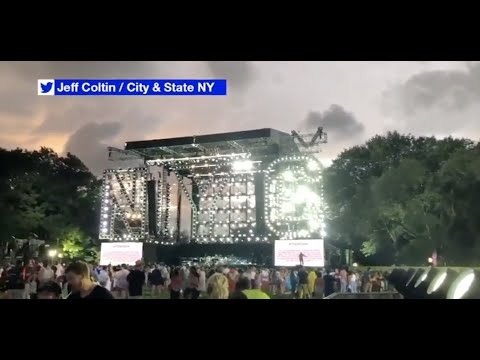 Central Park concert ends early due to severe weather linked to Hurricane Henri