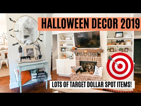 HALLOWEEN DECORATIONS 2019 🎃👻 // DECORATE WITH ME // TARGET DOLLAR SPOT DECOR Amy Darley