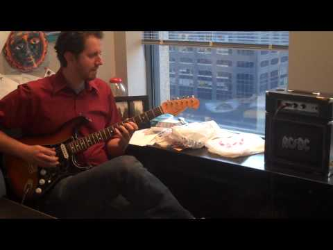 Jason plays the AC/DC Backtracks Amp