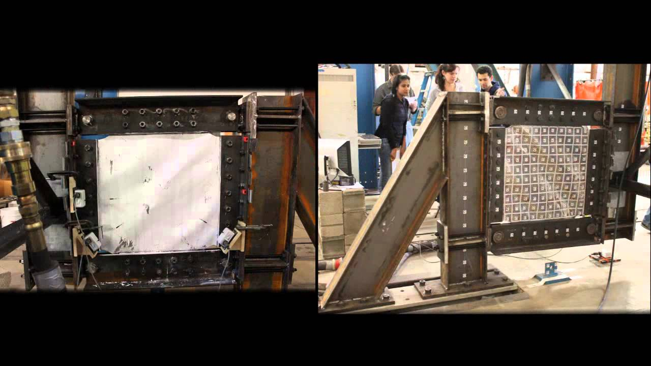 Solid Steel Plate Shear Wall Test Youtube