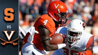 Syracuse vs. Virginia Football Highlights (2015)
