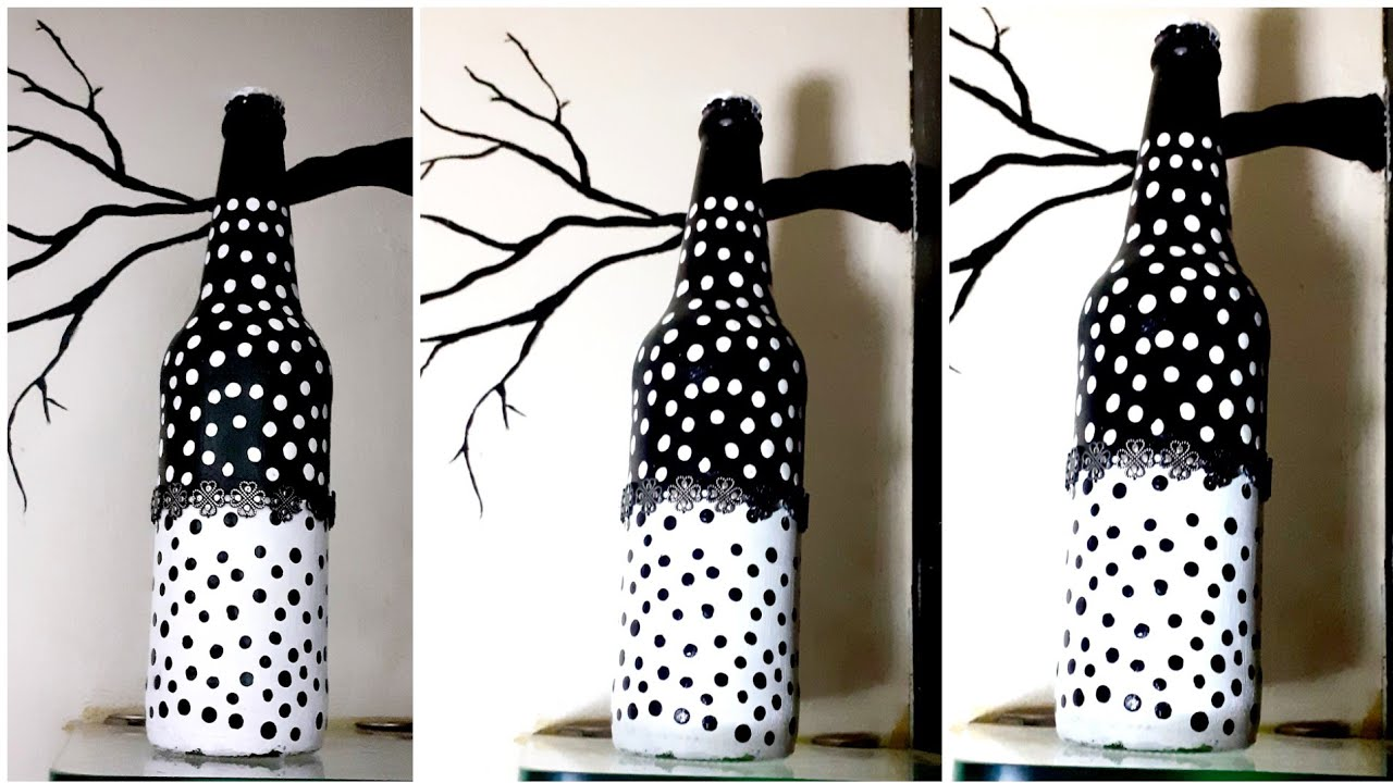 Simple Bottle Decoration Ideas Easy Simple Bottle Painting For Beginners Youtube
