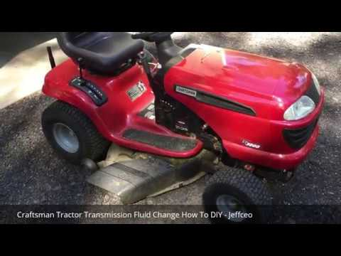 Craftsman Tractor Transmission Fluid Change How To Diy