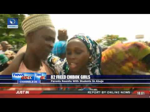 Parents Reunite With Freed 82 Chibok Girls In Abuja