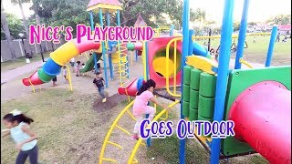 Great Outdoor Playground with lots of happy kids!