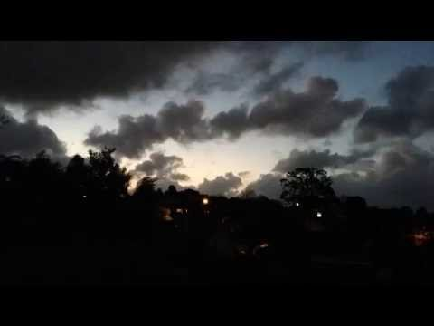 Sun Setting on rainy day Perth Time Lapse