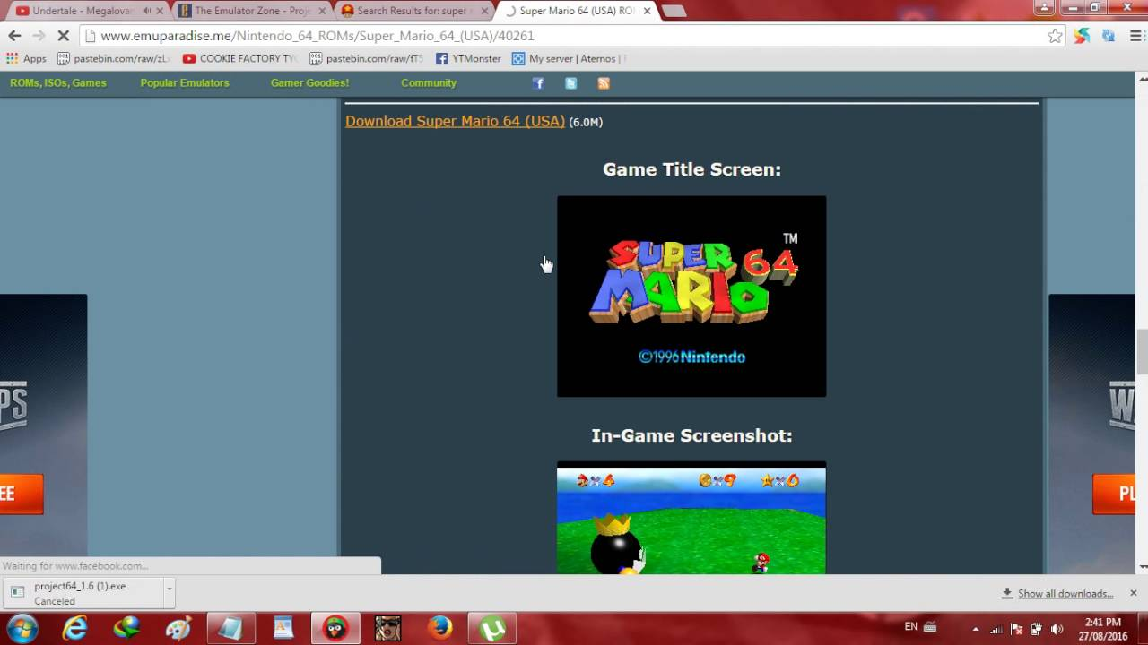 super mario 64 download emulator zone